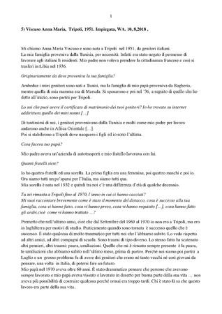 Trascrizione dellintervista di Domenico Infantolino ad Anna Maria Viscuso, 10, 8, 2018