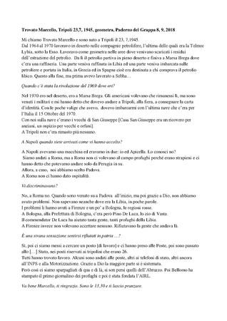 Trascrizione dellintervista di Domenico Infantolino a Marcello Trovato, Paderno, 08, 09, 2018