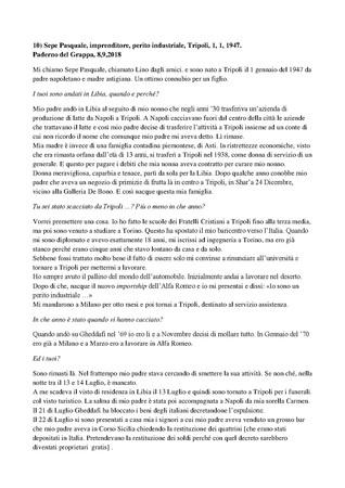 Trascrizione dellintervista di Domenico Infantolino a Pasquale Sepe, Paderno, 8, 9, 2018